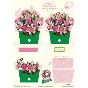 "Paper Bouquets ""Pink Roses & Orchids"""