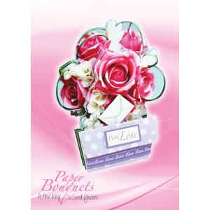 "Paper Bouquets ""Pink Wedding Roses"""