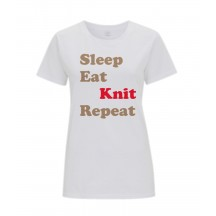 Sleep, Eat, Knit, Repeat T Shirt